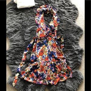 Anthropologie Postella watercolor dress